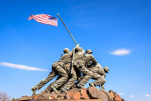 Marine Corps War Memorial at dawn Wall Mural Wallpaper - Canvas Art Rocks - 1