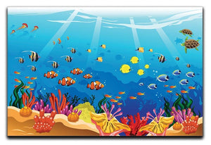 Marine underwater scene Canvas Print or Poster  - Canvas Art Rocks - 1