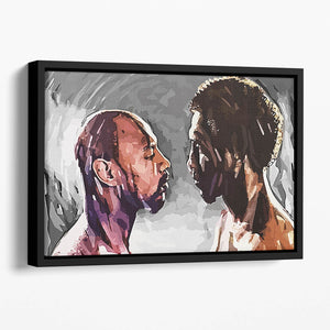 Marvin Hagler v Thomas Hearns Floating Framed Canvas