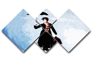 Mary Poppins 4 Square Multi Panel Canvas  - Canvas Art Rocks - 1