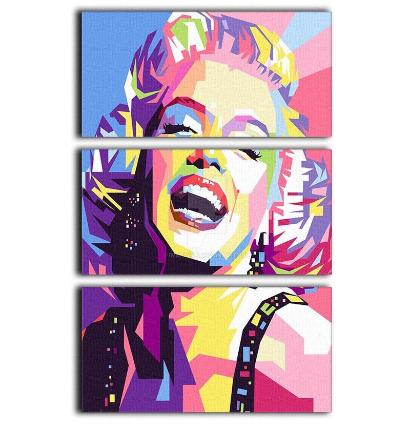Marylin Monroe Pop Art 3 Split Panel Canvas Print - Canvas Art Rocks - 1