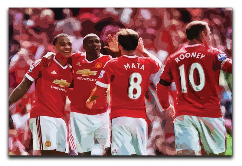 Juan Mata and Wayne Rooney Print - Canvas Art Rocks - 1