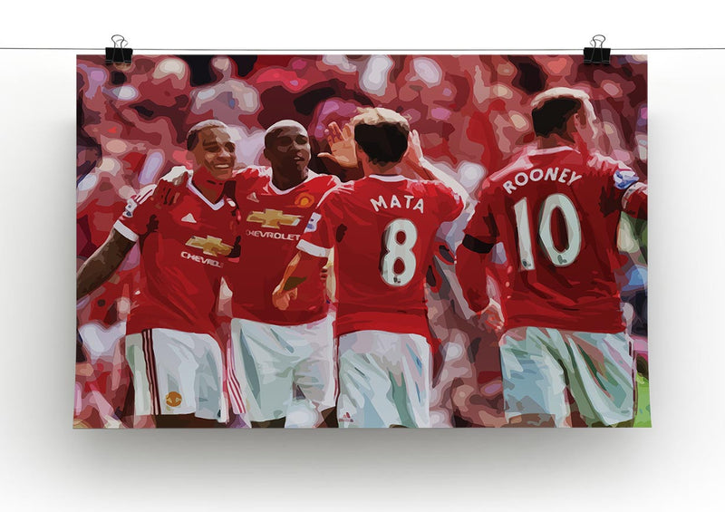 Juan Mata and Wayne Rooney Print - Canvas Art Rocks - 2