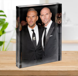 Matt Goss and Luke Goss Acrylic Block - Canvas Art Rocks - 2