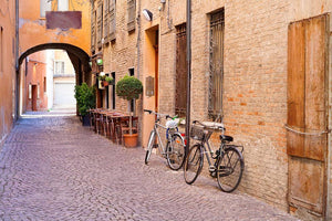 Medieval street historical Ferrara Wall Mural Wallpaper - Canvas Art Rocks - 1