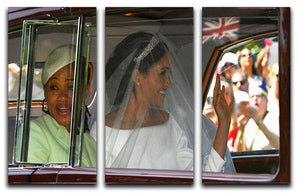 Meghan Markle and her mother arrive at the wedding 3 Split Panel Canvas Print - Canvas Art Rocks - 1