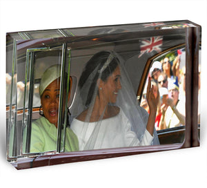 Meghan Markle and her mother arrive at the wedding Acrylic Block - Canvas Art Rocks - 1