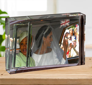 Meghan Markle and her mother arrive at the wedding Acrylic Block - Canvas Art Rocks - 2