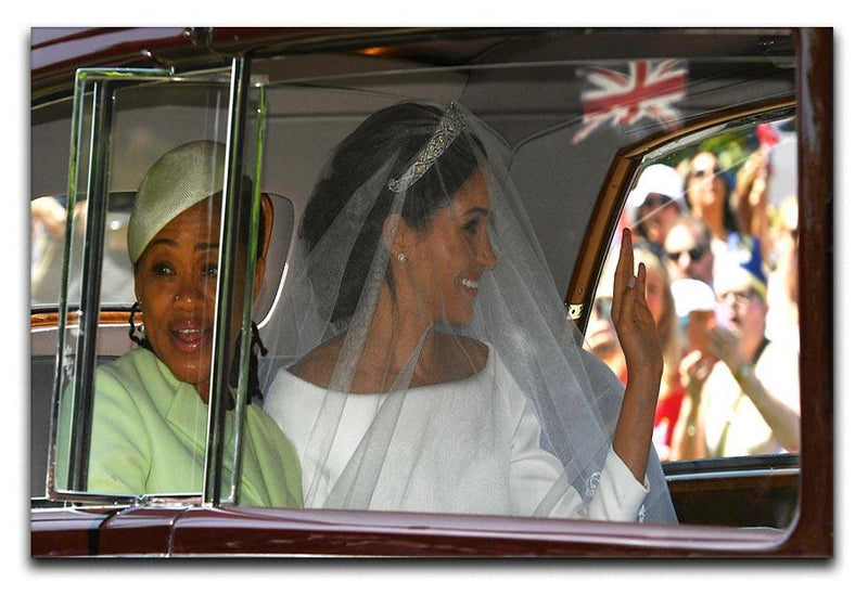 Meghan Markle and her mother arrive at the wedding Canvas Print or Poster  - Canvas Art Rocks - 1