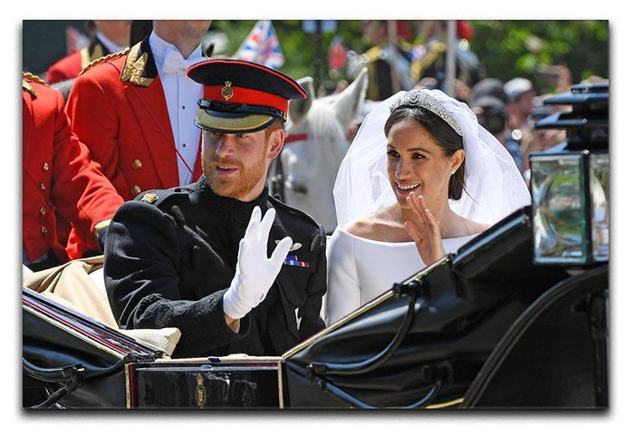 Meghan and Prince Harry greet the crowds Canvas Print or Poster