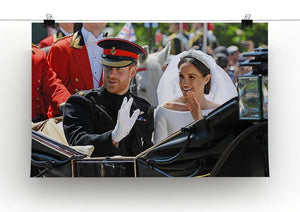 Meghan and Prince Harry greet the crowds Canvas Print or Poster - Canvas Art Rocks - 2