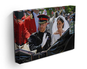 Meghan and Prince Harry greet the crowds Canvas Print or Poster - Canvas Art Rocks - 3