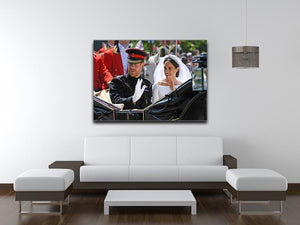 Meghan and Prince Harry greet the crowds Canvas Print or Poster - Canvas Art Rocks - 4