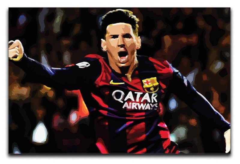 Messi Goal Celebration Canvas Print or Poster  - Canvas Art Rocks - 1