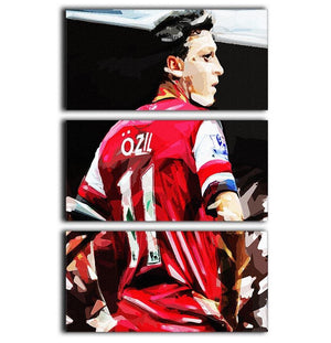 Mesut Ozil 3 Split Panel Canvas Print - Canvas Art Rocks - 1