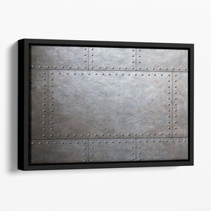 Metal armor plates Floating Framed Canvas - Canvas Art Rocks - 1