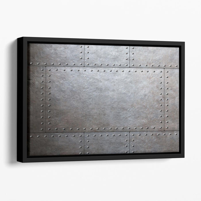 Metal armor plates Floating Framed Canvas