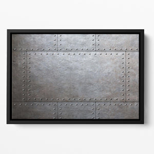 Metal armor plates Floating Framed Canvas - Canvas Art Rocks - 2