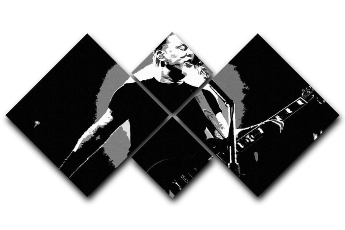 Metallica James Hetfield 4 Square Multi Panel Canvas