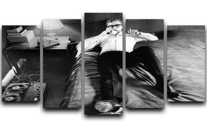 Michael Caine relaxing at home 5 Split Panel Canvas  - Canvas Art Rocks - 1