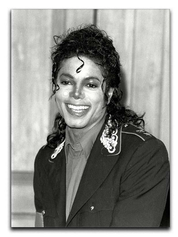 Michael Jackson smiles Canvas Print or Poster  - Canvas Art Rocks - 1