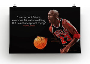 Michael Jordan Accept failure Canvas Print or Poster - Canvas Art Rocks - 2