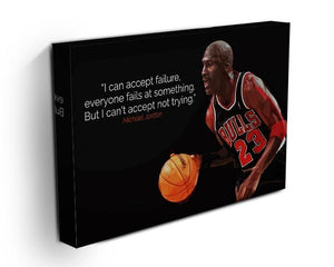 Michael Jordan Accept failure Canvas Print or Poster - Canvas Art Rocks - 3