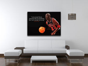 Michael Jordan Accept failure Canvas Print or Poster - Canvas Art Rocks - 4