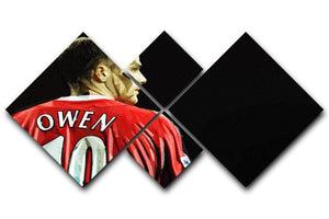 Michael Owen Liverpool Back 4 Square Multi Panel Canvas  - Canvas Art Rocks - 1