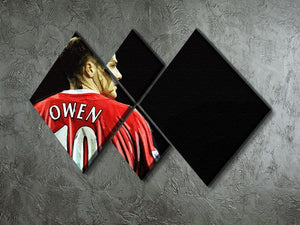 Michael Owen Liverpool Back 4 Square Multi Panel Canvas - Canvas Art Rocks - 2