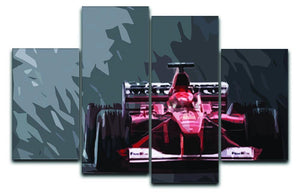 Michael Schumacher Formula 1 4 Split Panel Canvas  - Canvas Art Rocks - 1