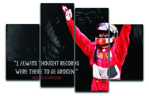 Michael Schumacher Records 4 Split Panel Canvas  - Canvas Art Rocks - 1