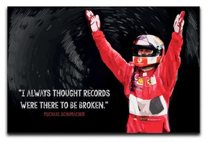 Michael Schumacher Records Canvas Print or Poster  - Canvas Art Rocks - 1