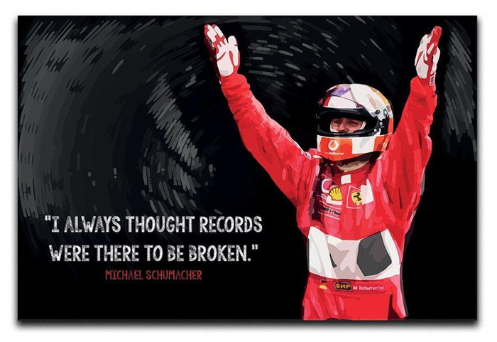 Michael Schumacher Records Canvas Print or Poster