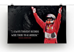 Michael Schumacher Records Canvas Print or Poster - Canvas Art Rocks - 2