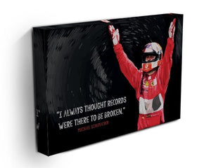 Michael Schumacher Records Canvas Print or Poster - Canvas Art Rocks - 3