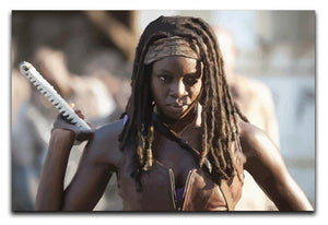 Michonne The Walking Dead Print - Canvas Art Rocks - 1