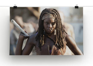 Michonne The Walking Dead Print - Canvas Art Rocks - 2