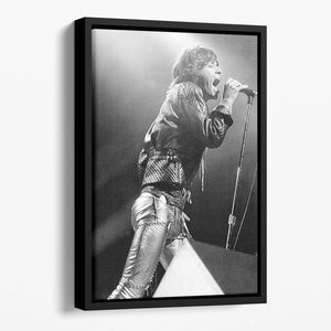 Mick Jagger 1973 Floating Framed Canvas