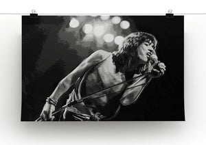 Mick Jagger Print - Canvas Art Rocks - 2