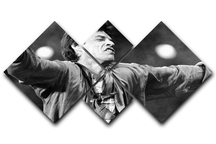 Mick Jagger arms up 4 Square Multi Panel Canvas