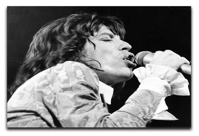 Mick Jagger belts it out Canvas Print or Poster  - Canvas Art Rocks - 1