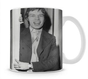 Mick Jagger in a door Mug - Canvas Art Rocks - 1