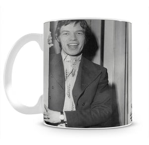 Mick Jagger in a door Mug - Canvas Art Rocks - 2