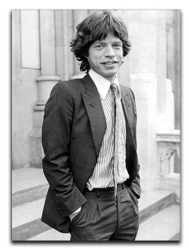 Mick Jagger in a tie Canvas Print or Poster  - Canvas Art Rocks - 1