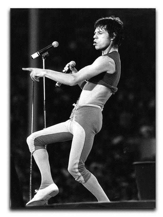 Mick Jagger in lycra Canvas Print or Poster  - Canvas Art Rocks - 1