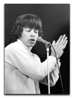 Mick Jagger on stage in 1965 Canvas Print or Poster  - Canvas Art Rocks - 1