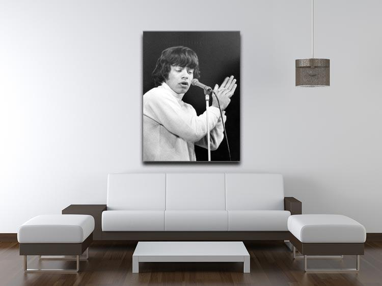 Art Print Poster Canvas Mick Jagger on Stage