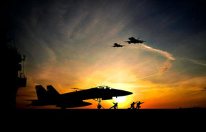 Military aircraft before take-off Wall Mural Wallpaper - Canvas Art Rocks - 1