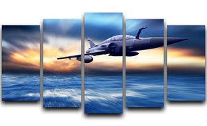 Military airplan on the speed 5 Split Panel Canvas  - Canvas Art Rocks - 1